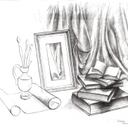 Still life, Perspective Drawing, Christina, 17