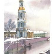 St. Petersburg, Watercolour technique, Christina, 17