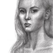 Self-Portrait, Christina, 17