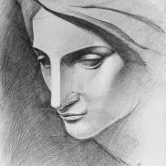 Drawing from Michelangelo, Pieta