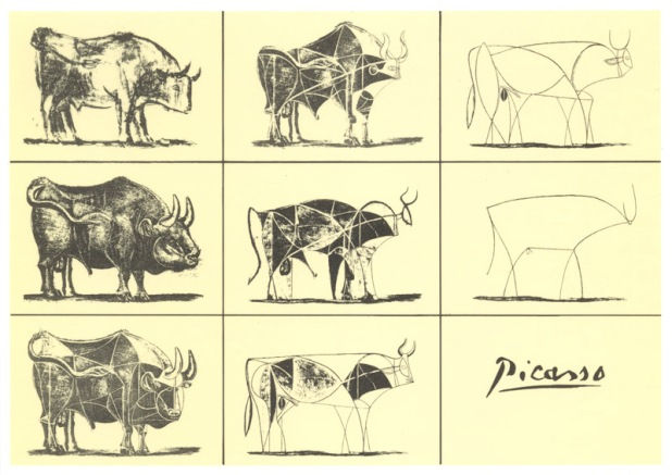 The Bull metamorphosis, Picasso